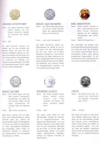 Steinbedeutung der neuen Echtsteine
